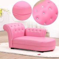 High Quality Children Sofa Chaise Longue Chair Kindergarten Environmentally Cloth+ Sponge Recliner Pink White Kid's Gift