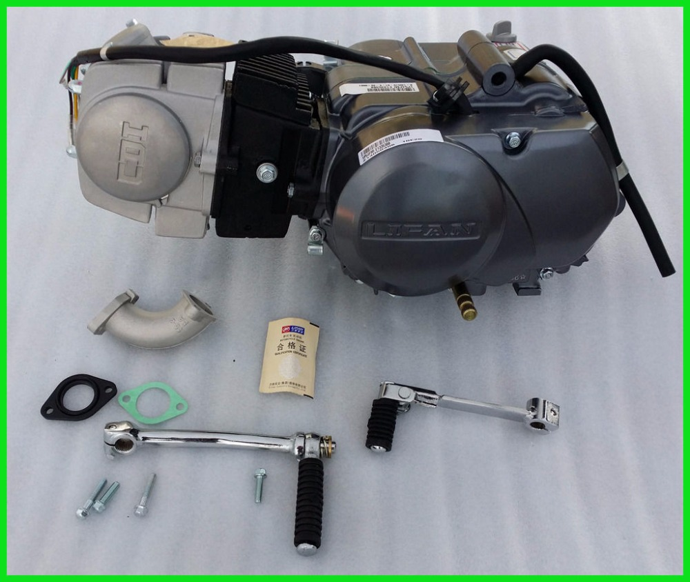125cc LIFAN Engine 4 Stroke Kick Start Manual Clutch Dirt Bike Motorbike-in  ATV Parts & Accessories from Automobiles & Motorcycles on Aliexpress.com ...