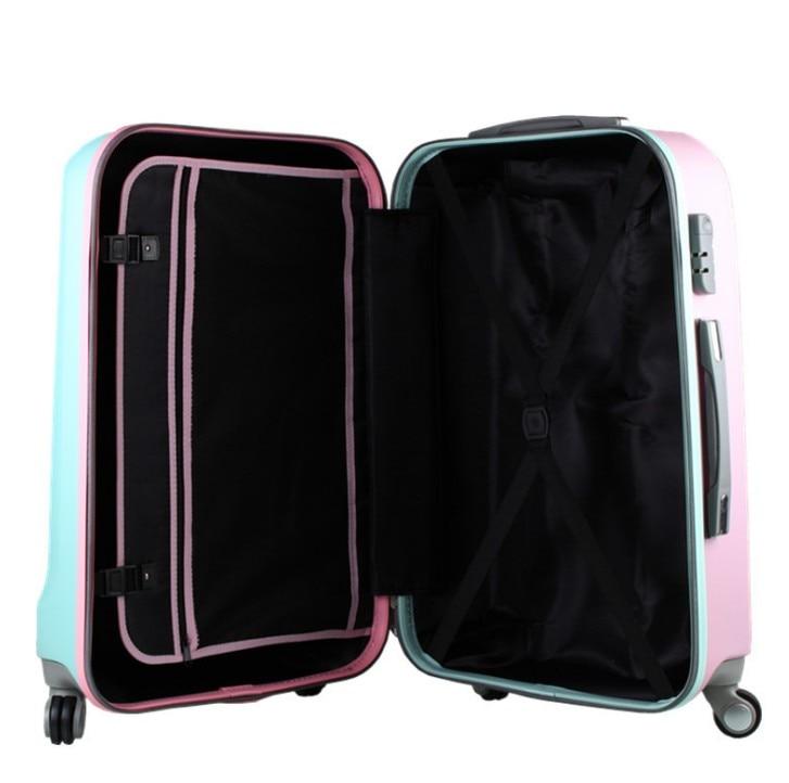 Reise tale 20,24, 26 Zoll, ABS Spinner Hardside Gepäck rosa/blau ...