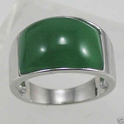 ร้อนขายโนเบิล-จัดส่งฟรี>>>@@ A> >>> Z323แท้สีเขียวหยกเครื่องประดับผู้ชายแหวน#