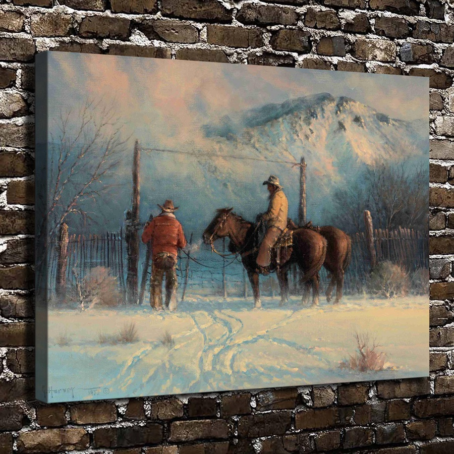 A2601 Gerald Harvey Jones closing winter gap ,HD Canvas Print Home decoration Living Room bedroom Wall pictures Art painting