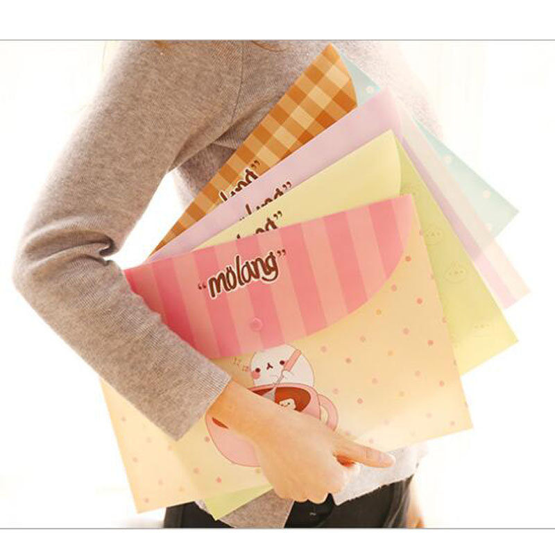 1pc A4 Folder School Office Supplies Cute Cartoon File Information Collection Children Student Gifts Stationery