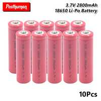 18650 Battery 3.7V 2800mAh Rechargeable Lithium discharge dedicated For Electronic cigarette Power batteries For Flashlight
