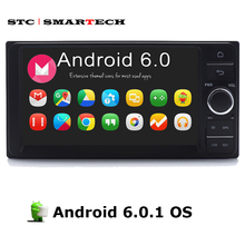 SMARTECH 2 Din 7 pulgadas Multimedia Car Audio Reproductor de Vídeo 6.0.1 Android CPU Quad-Core Para Toyota Universal con GPS OBD navegación