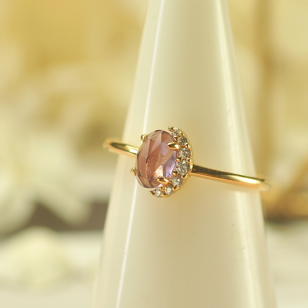 Amethyst Ring Natural crystal colour jewel Free Shopping