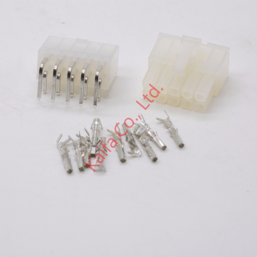 20 sets 10 Pin/way <font><b>4.2mm</b></font> Curved needle <font><b>5557</b></font>&5569 wire terminals electrical connector plug for PCB/CPU/car/motorcycle image