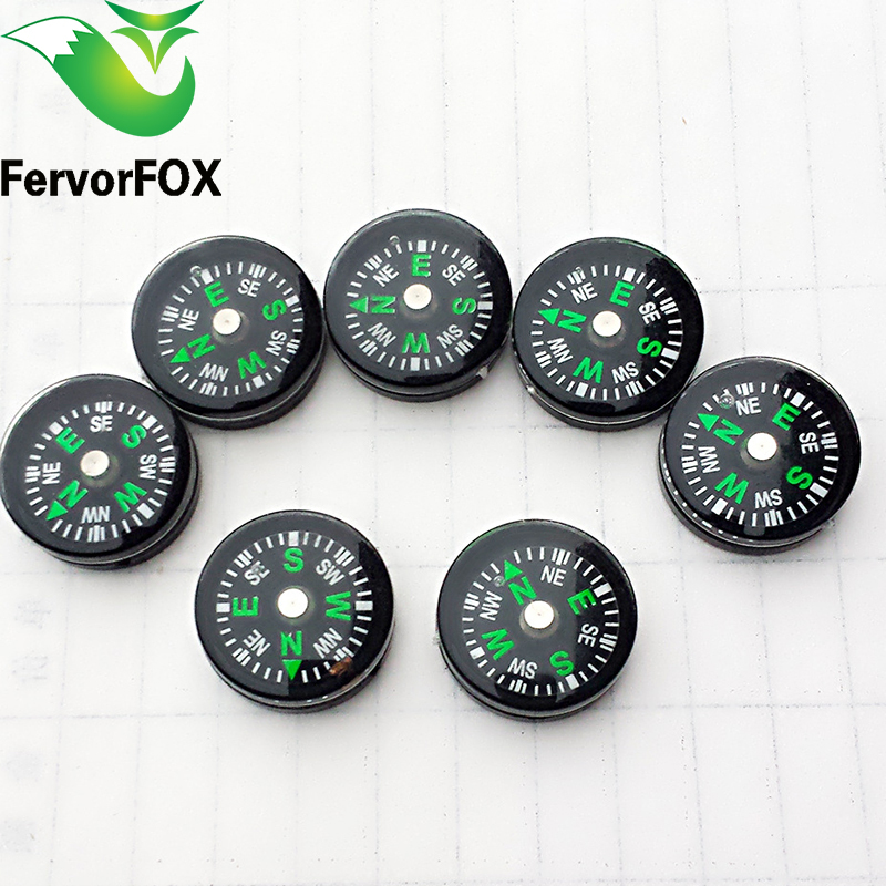 1Pc(20MM) Pocket Survival Liquid Filled Button Design Compass Derection for Climbing Hiking Camping Outdoor