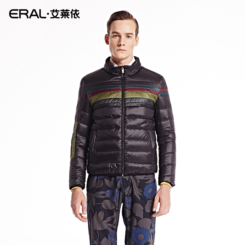 ERAL 2016 New Fashion Hot Sale Patchwork Winter Jacket Down Outerwear Mens Thick Casual Short Coat With Stand Collar ERAL9027C