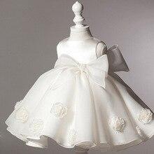 Nova Nascidos Meninas Encantadoras Mangas Branco Vestido Rosa Crianças Vestidos Infantis Macio Princesa Criança Do Bebê Vestido de Festa Menina Princesa