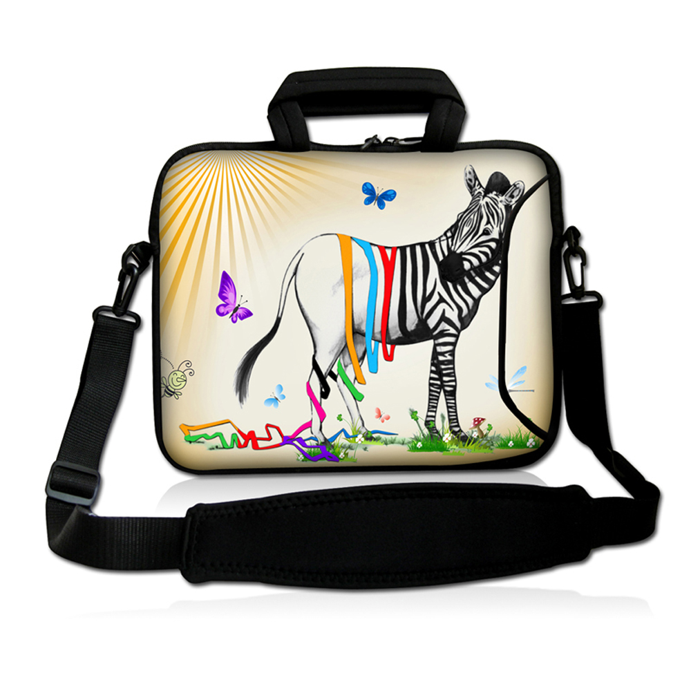 Cute Animal Prints 15 Notebook Computer Messenger Shoulder Bags For Dell Lenovo Apple Macbook Pro 15.4 15.6 Laptop Briefcase