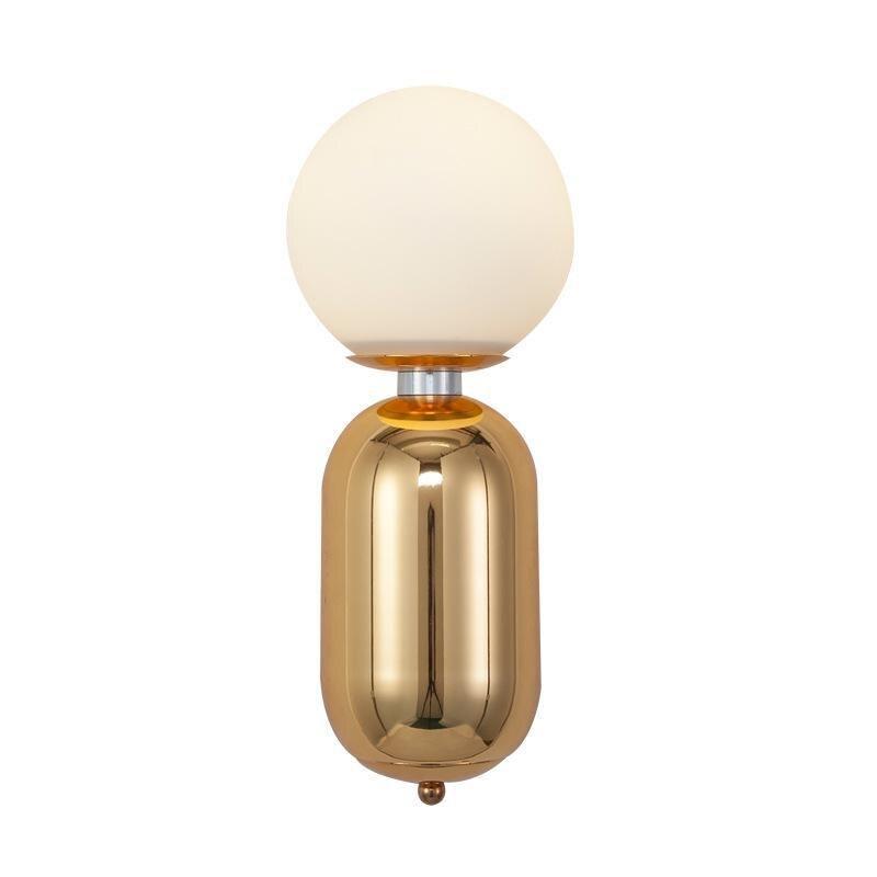 Lampe De chevet mur LED boule De verre nordique chambre Studio miroir avant applique murale moderne Luminarias De luminaire intérieur