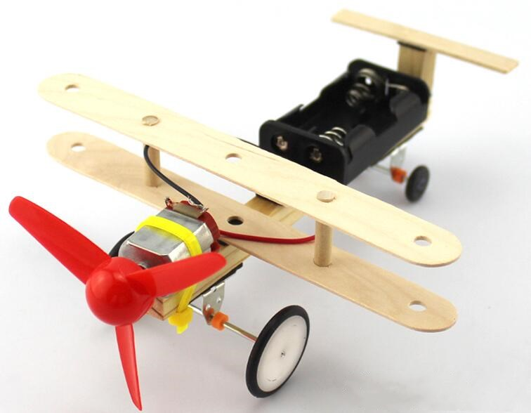 Children Science Technology Small Production Making DIY Handmade Aircraft Slide Model For Kids Primary School Science Experiment
