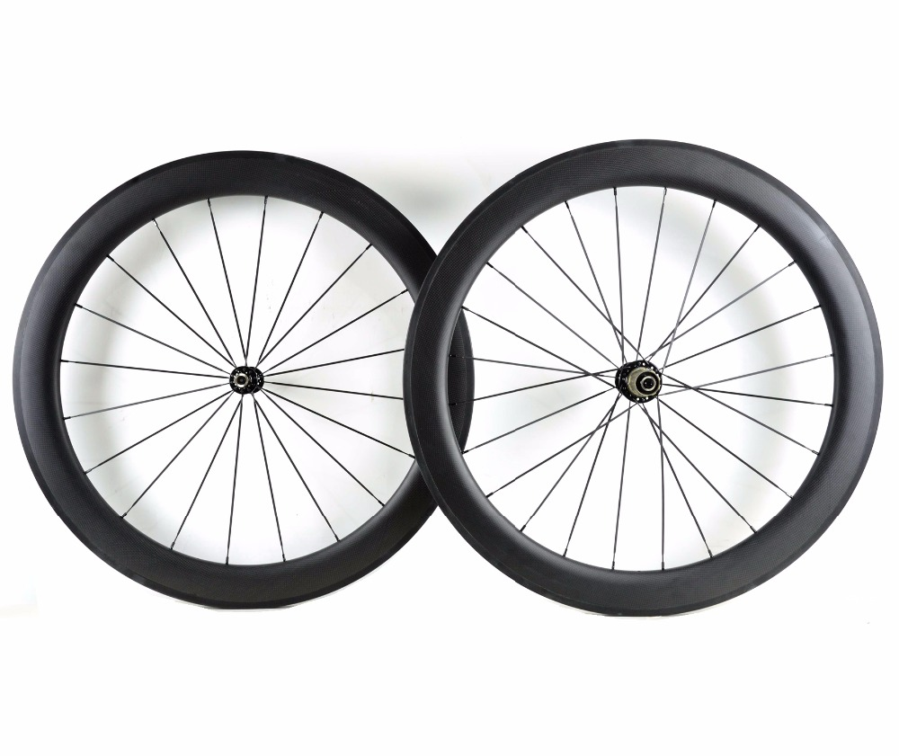 High-quality 700C 60mm depth carbon wheels 25mm width clincher/Tubular road bike carbon wheelset 3K Matte finish free shipping стоимость