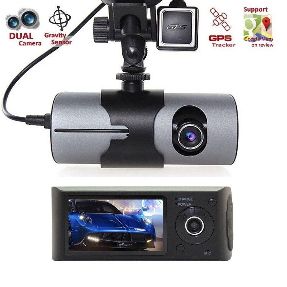 2.7 Vehicle 1080P Car DVR Camera Video Recorder Dash Cam G-Sensor GPS Dual Lens original c6 car black box dual lens full hd 720p motorcycle dvr camera car camera support gps and g sensor