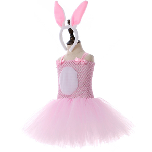 Image 3 - الوردي الأرنب الأرنب توتو فستان مع عقال الذيل بنات عيد ميلاد ملابس الاطفال عيد الفصح هالوين ازياء للبنات ملابس للحفلات