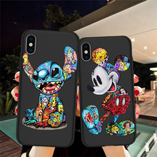 Mickey Groot Joker Stitch For iPhone X XR XS Max 5 5S SE 6 6S 7 8 Plus Oneplus 5T Pro 6T phone Case Cover Funda Coque Etui Capa