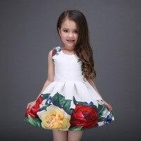 Prinzessin Weiche Kleid Mädchen Ballkleid Floral Taufe Abend Party Kleider Mädchen Hochzeit Kleidung Kinder Weißes Kleid Für Kiemen