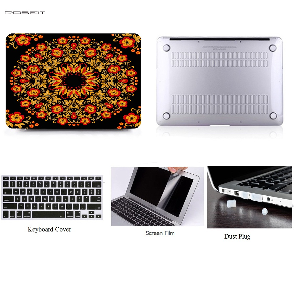 For Apple Macbook Air 13 Plastic Hard Case Cover for Macbook Pro Retina 13 15 Laptop Shell Keyboard Cover Screen Film Dust Plug in Laptop Bags Cases from Computer Office