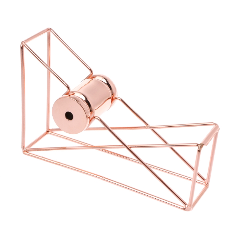 1Pc*Tape Cutter Rose Gold Hollow Tape Cutter Washi Storage Organizer Stationery Office Supplies New high capacity japanese masking tape storage cutter multi rolls round washi tape storage organizer cutter office supplies