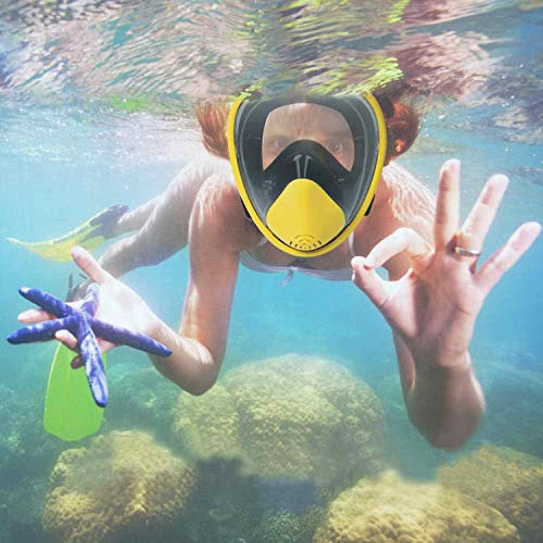 Volledige Gezicht Snorkel Masker 180 Panorama Easybreath Snorkelen Masker Anti-Fog Anti-Lek Onderwater Duikuitrusting Voor kids
