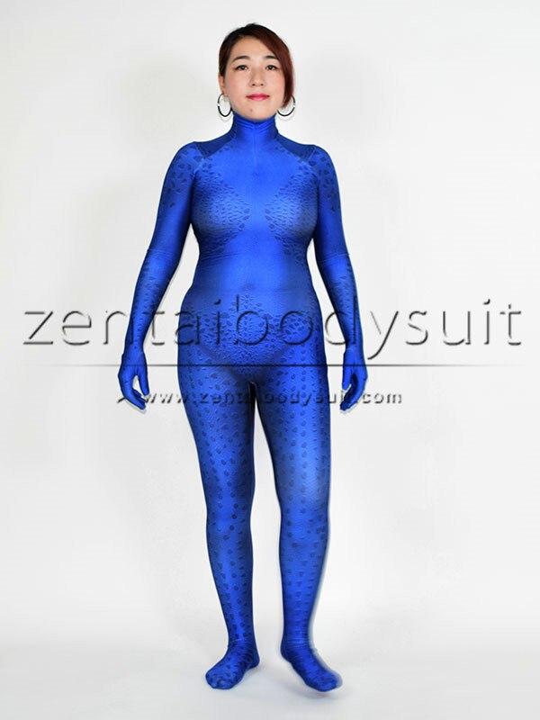 3D Print X-men Film Mystique Cosplay Halloween Superhero Costume