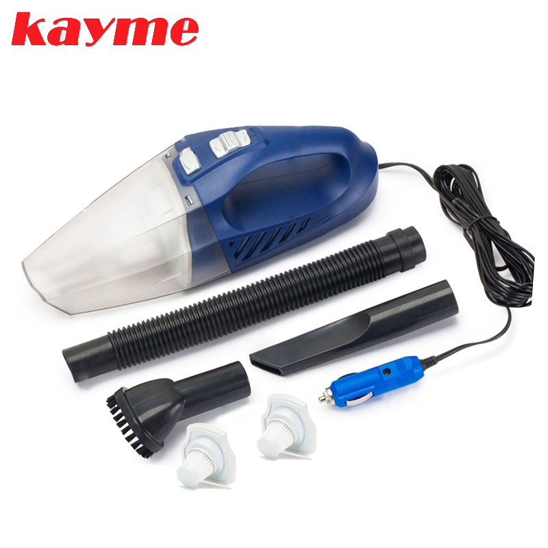Kayme mini handheld car vacuum cleaner 80W 3000PA wet and dry auto portable dust brush for car auto mini handheld 100w car vacuum cleaner auto portable dust brush for car 12v car air compressor tyre inflator infation pumb