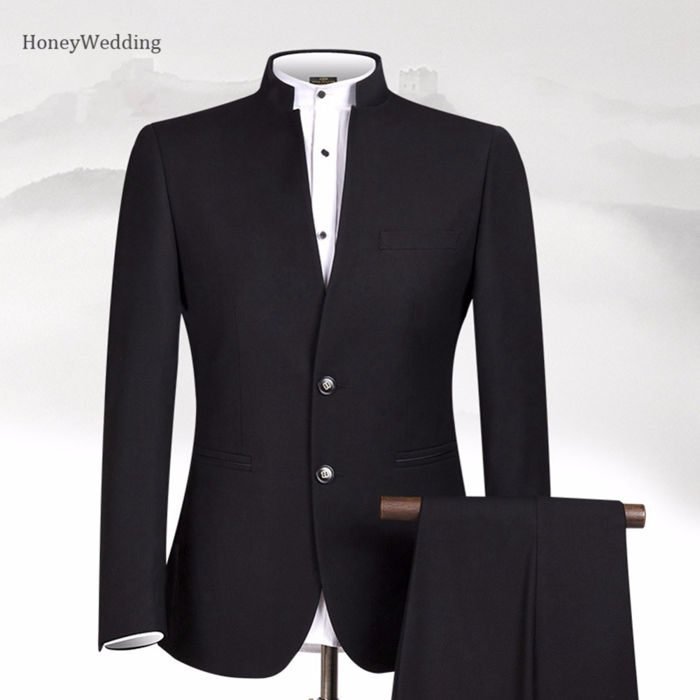 Stand Collar Designs : Men suit sets chinese tunic suits stand collar classic