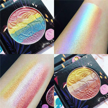 цена Eyeshadow Palette Rainbow Highlighter Contour Makeup Palette Face Brighten Shimmer Bronzer Palette Makeup Eyeshadow Pallete в интернет-магазинах