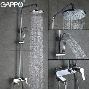 Image 2 - GAPPO waterfall shower bath faucets set bathtub mixer faucet bath rain shower tap bathroom shower head stainless shower bar