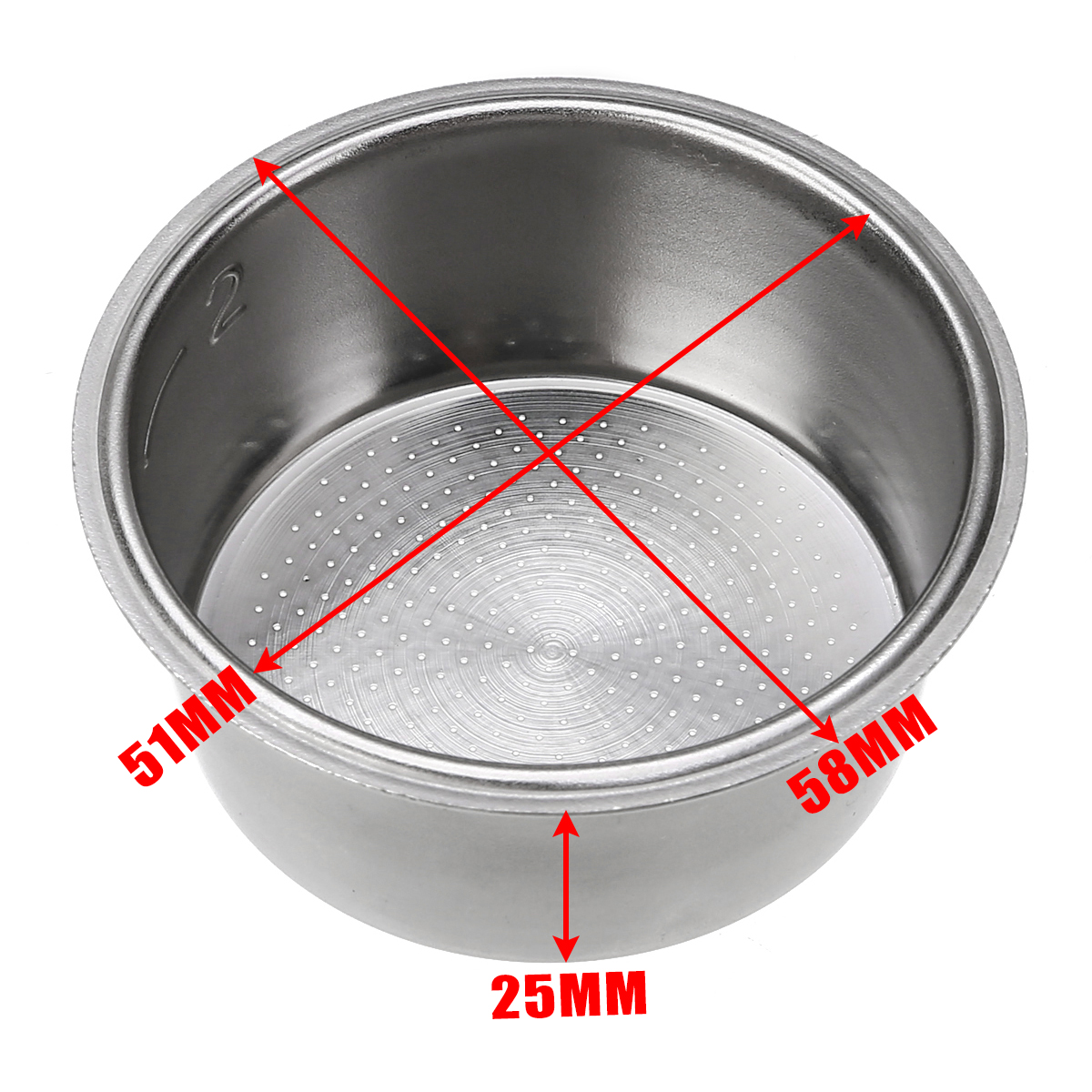 Mayitr Coffee Tea Filter Stainless Steel Non Pressurized Coffee Filter Basket For Coffee Machine Accessories