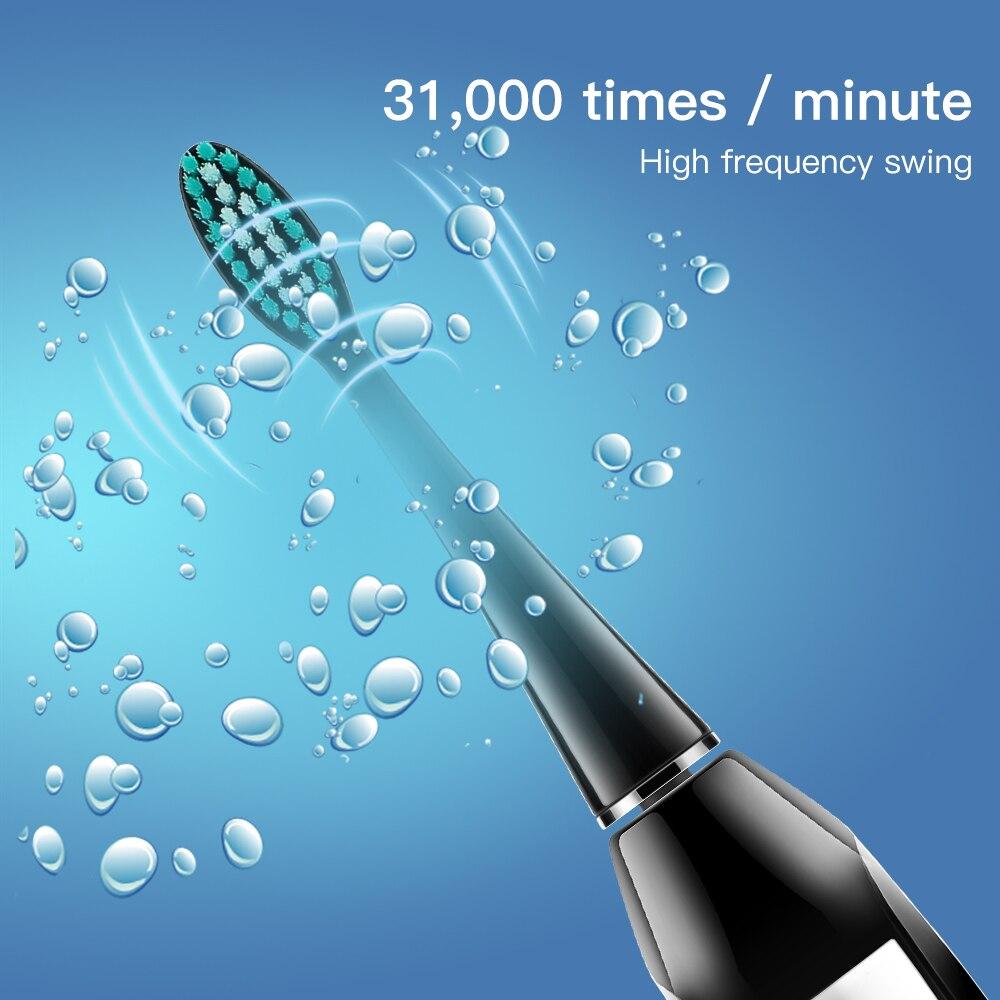 HERE MEGA Sonic Electric Toothbrush Strong Cleaning Whitening Toothbrush USB Charging DuPont brush 3 Adjustable Brushing Mode