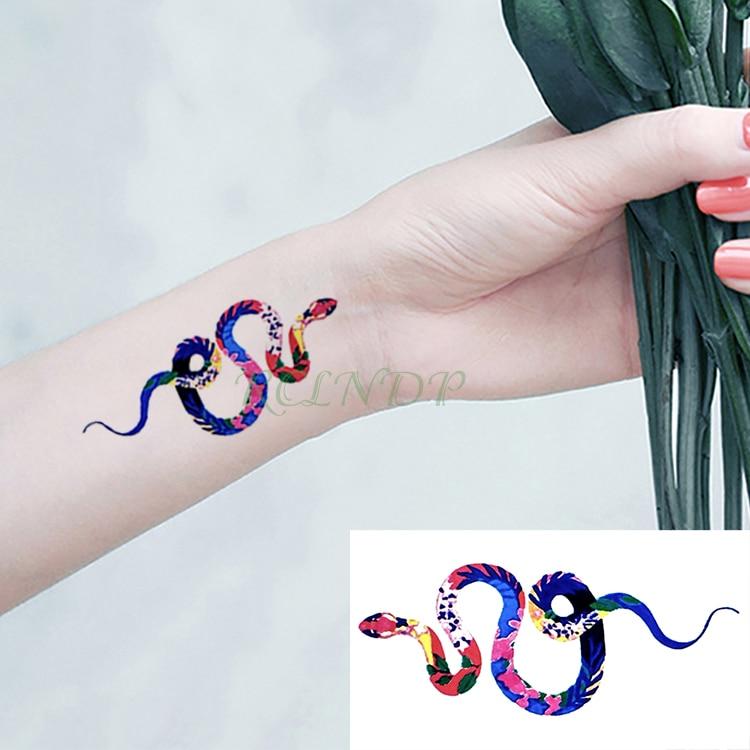 Waterproof Temporary Tattoo Stickers Snake fake Tatto Flash Tatoo Tatouage Body Art Hand Back Foot Arm for Girl Women Men