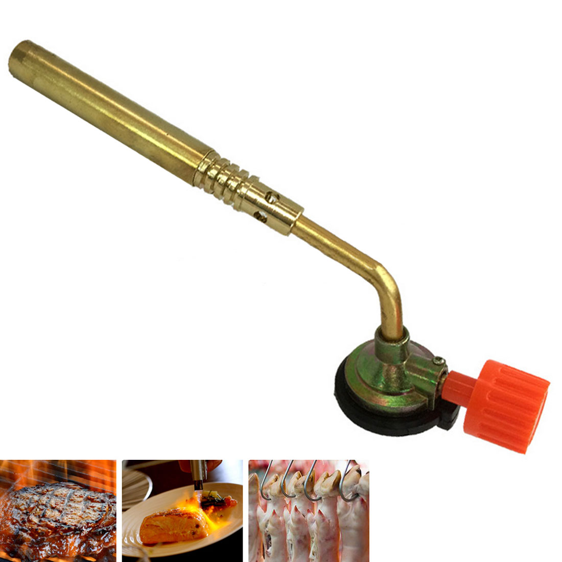 Butane Gas Welding Soldering Pipe Blow Torch Flamethrower Burner Camping Welding BBQ Tool Brass For Welder Equipment