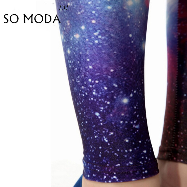 Wholesale Leggings Women Fitness Elastic Sexy Skinny Push Up Pants Leisure Universe Of Stars Slim Comfortable Digital Print Pant