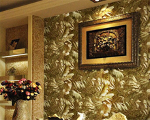 beibehang Gold foil 3d stereorelief European luxury gold bedroom living room film wall wallpaper papel de parede papier peint