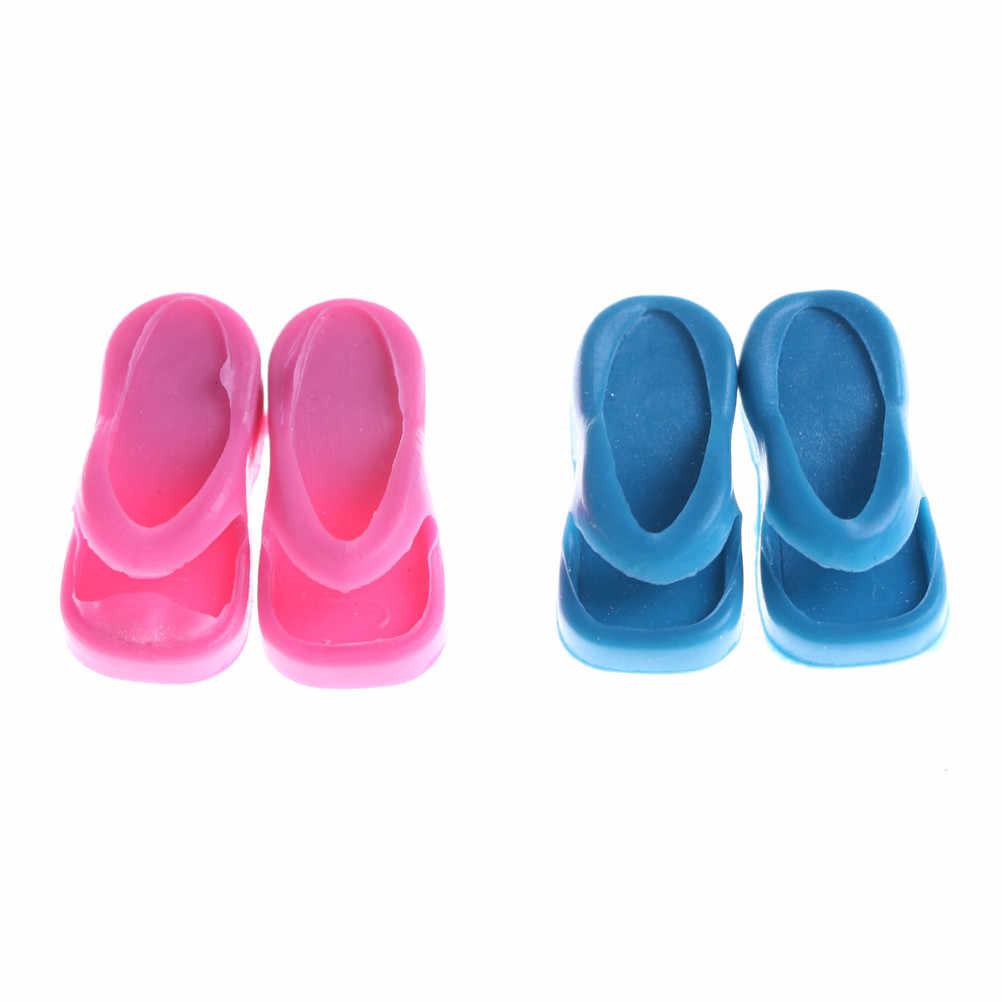 2pairs الوجه يتخبط ل 1/6 دميات لعبة النعال الصنادل دمية أحذية مصنع لعبة بالجملة أدنى سعر
