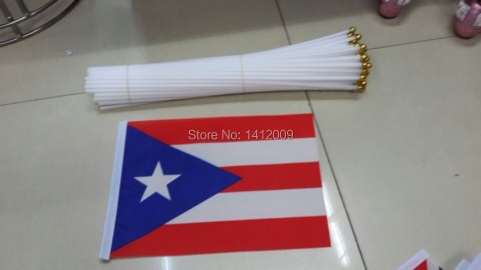 Free shipping 14 21cm puerto rico national flag office for Acanthus decoration puerto rico