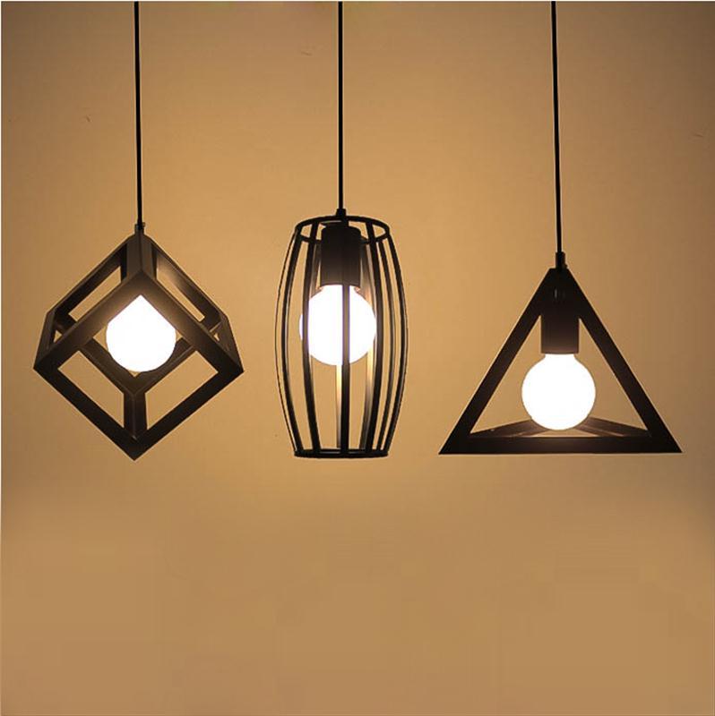 retro creative personality bar art lighting lamps loft Iron Chandelier geometric restaurant industry Pendant LAMP GY325 стоимость