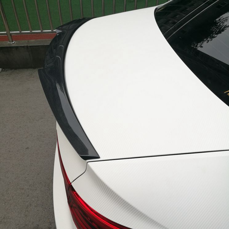 M4 style For Audi A4 B9 Spoiler 2016 UP Carbon Spoiler Rear Trunk Spoiler Carbon Fiber for A4 carbon spoiler wings