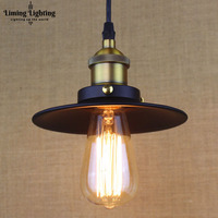 Loft Industrie Zwart Hanglamp Fitting E27 Edison Lamp Vintage Stijl Opknoping Verlichting Project Gebruik Art Decoratie lamp abajur