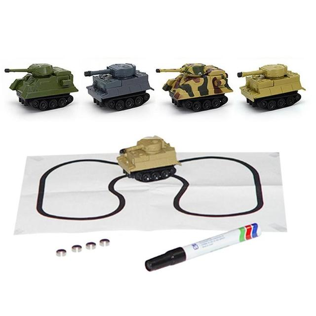 1 Set Kids Children Vehicle Toy Truck Inductive Tank Toys Automatic Novelty Follow-Line You Draw Cars For Kids Christmas Gift
