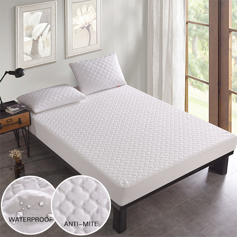 Beautiful Jacquard Anti-mite <font><b>Bed</b></font> Mattress Protection Cover Breathable Waterproof Mattress Protector Cover for <font><b>Bed</b></font> Wet