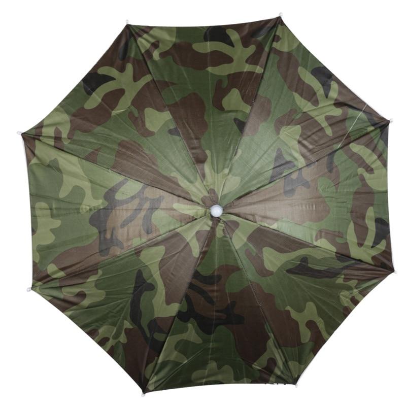 Camouflage Faltbare Headwear Sonnenschirm Angeln Wandern Strand Camping  Headwear Cap Kopf Hüte Outdoor Sport Regenschirm Hut