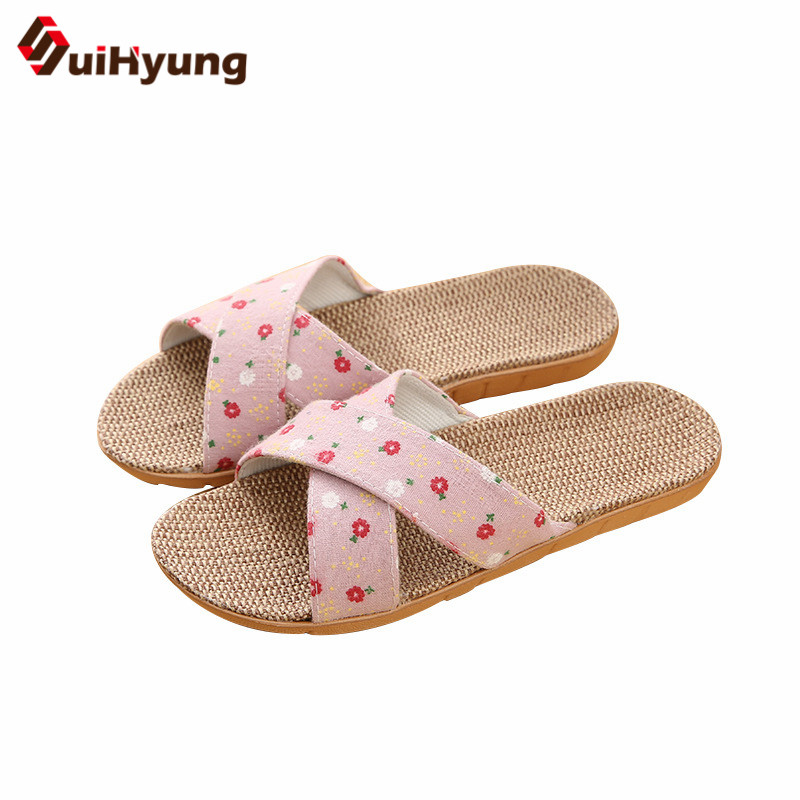 Suihyung Summer Slippers New Breathable Linen Women Indoor Floor Shoes Flowers Belt Flax Flip Flops Casual Slides Female SandalsSuihyung Summer Slippers New Breathable Linen Women Indoor Floor Shoes Flowers Belt Flax Flip Flops Casual Slides Female Sandals