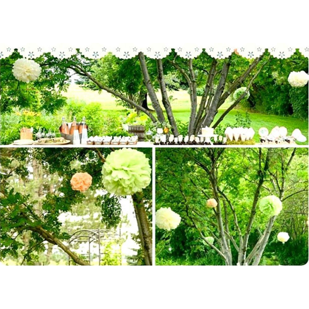 15pcs 25cm10inch tissue paper wedding party decor craft paper 15pcs 25cm10inch tissue paper wedding party decor craft paper flower for wedding decoration apple green in artificial dried flowers from home garden junglespirit Image collections