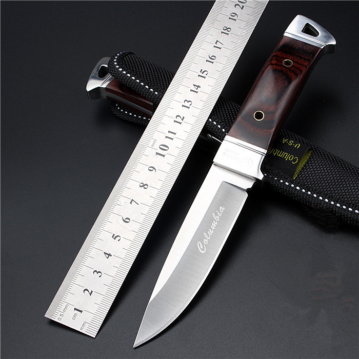 2016 New Outdoor Self defense Field High Hardness Small Straight font b Knife b font Wilderness