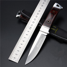 2016 New Outdoor Self-defense Field High Hardness Small Straight Knife Wilderness Survival Of Folding Fruit Knives Wild Wolf