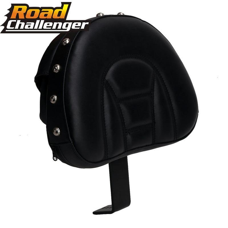 Fits For Harley Fatboy Heritage Softail 2007-2017 Motorcycle Black Adjustable Comfy Plug-In Driver Rider Backrest