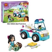 Bela 10534 Friends Pet Rescue Vehicle New Style Minifigures Building Block Bricks Toys Action Figure Kids Christmas Gifts