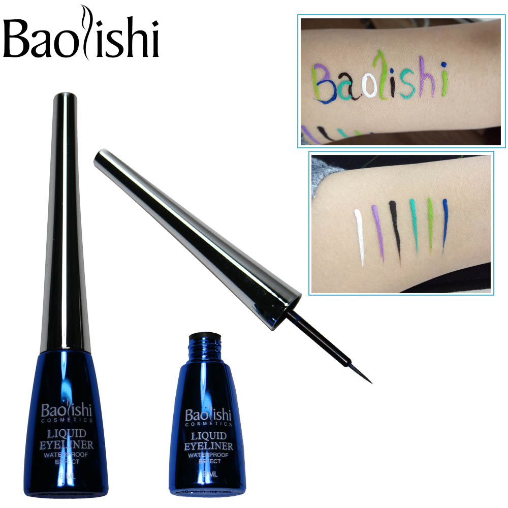 baolishi 6 color Ilgstoša ūdensnecaurlaidīga šķidruma acu zīmuļa aplauzums zīmuļu acu zīmolam